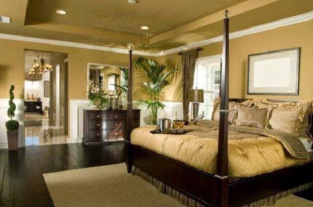 Desain Interior kamar tidur Rumah klasik terbaru