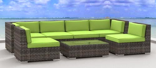the urban furnishing oahu patio sofa set is available in five colors beige lime green charcoal dark coral red and sea blue beige and charcoal are for - Best Sofas In The World