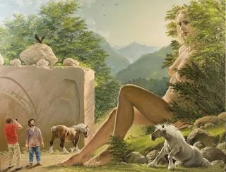 Mujeres Gigantes Desnadas Surrealismo