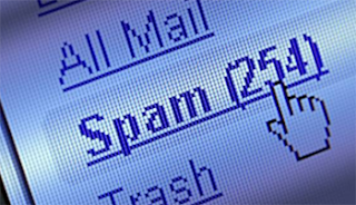 notificar spam en yahoo mail