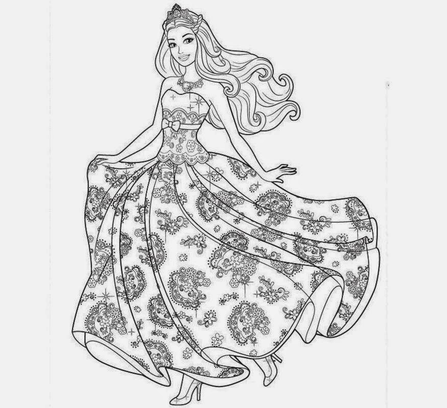 Drawing: Colour Drawing Free Wallpaper: Barbie Coloring Drawing