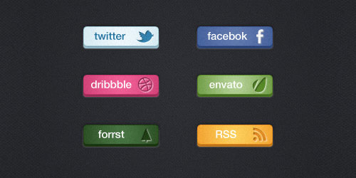 Free Web Social Buttons