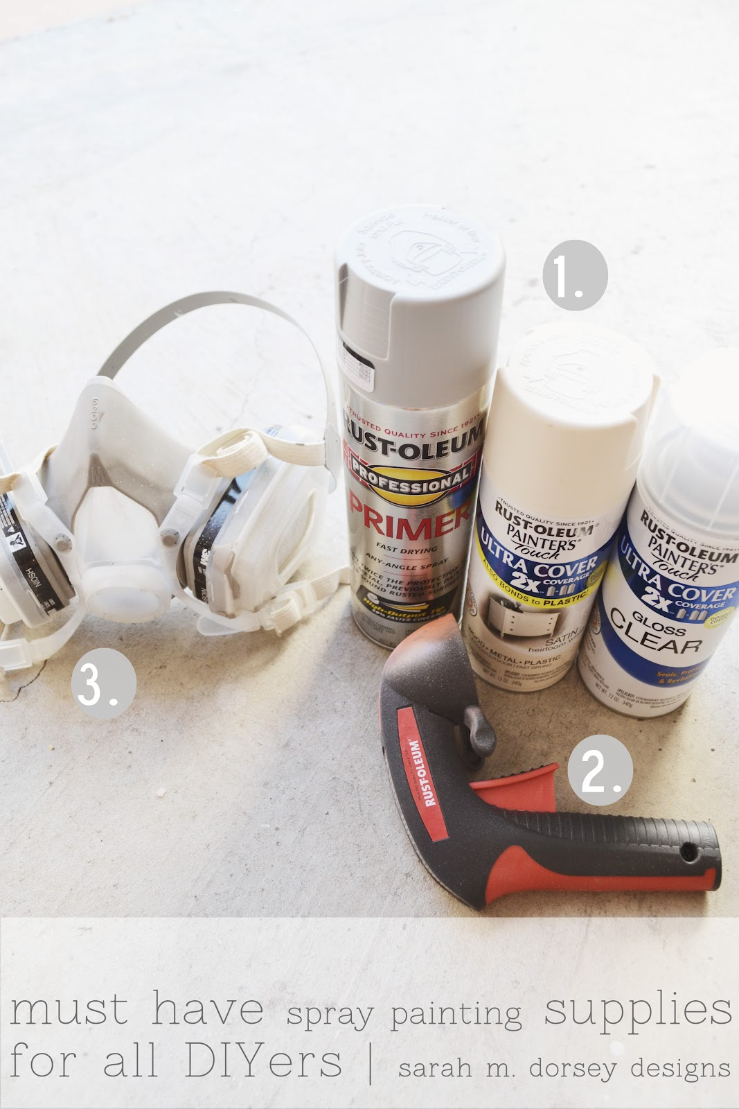 Sarah m dorsey designs my diy must haves painting Spray paint supplies
