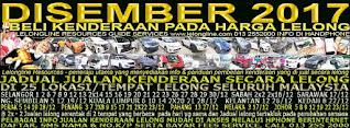 1-31/12/2017 - 66 KALI JUALAN KENDERAAN LELONG SELURUH MALAYSIA & SEKITAR KLANG VALLEY-SGR/K L