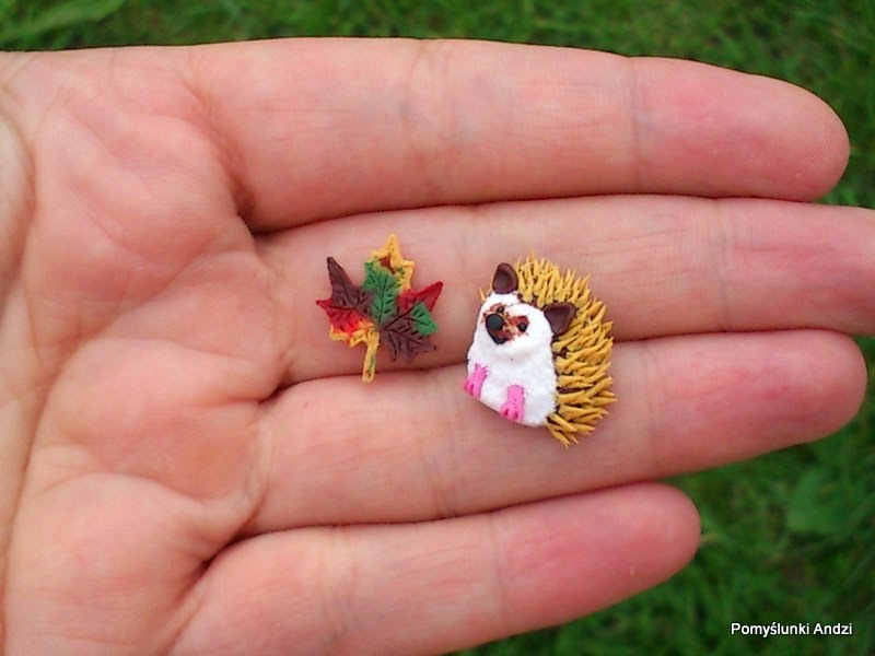 hedgehog, jeż, kolczyki, earrings