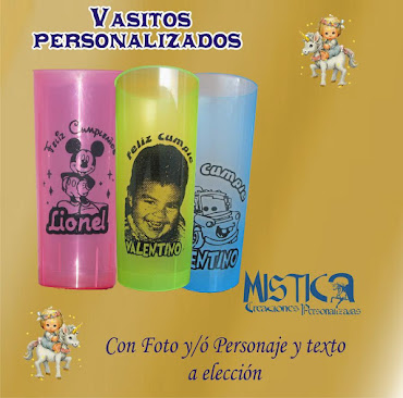 VASITOS PERSONALIZADOS
