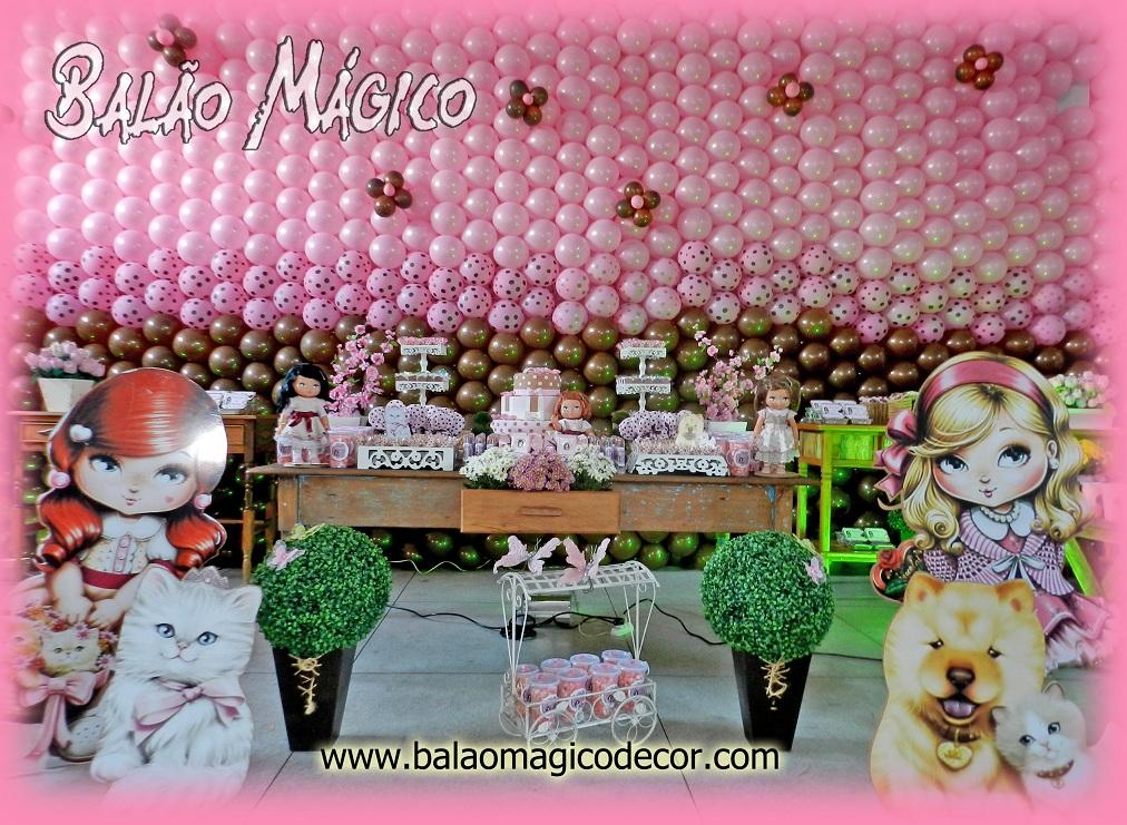 Agora n s somos festeirah decor jolie marrom e rosa for Agora decoration