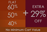Fashionandyou Monday Mania: Flat 60% / 50% / 40% + Extra Flat 29% OFF on Entire Site
