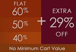 Fashionandyou Monday Mania: Flat 60% / 50% / 40% + Extra Flat 29% OFF on Entire Site