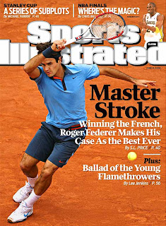 o tenista Roger Federer na capa da revista Sports Illustrated
