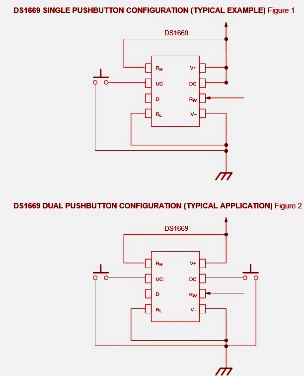 How to Build a Digital Up/Down Volume Control Circuit Using IC DS1668