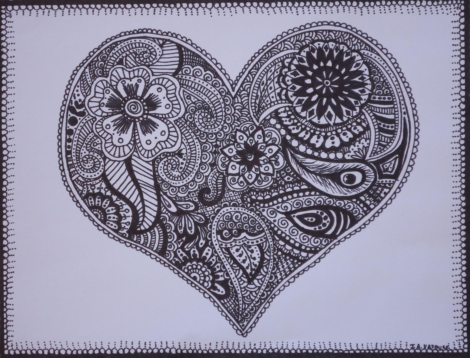 Mehndi Drawing Designs : Vazquez style art mehndi henna ink drawings