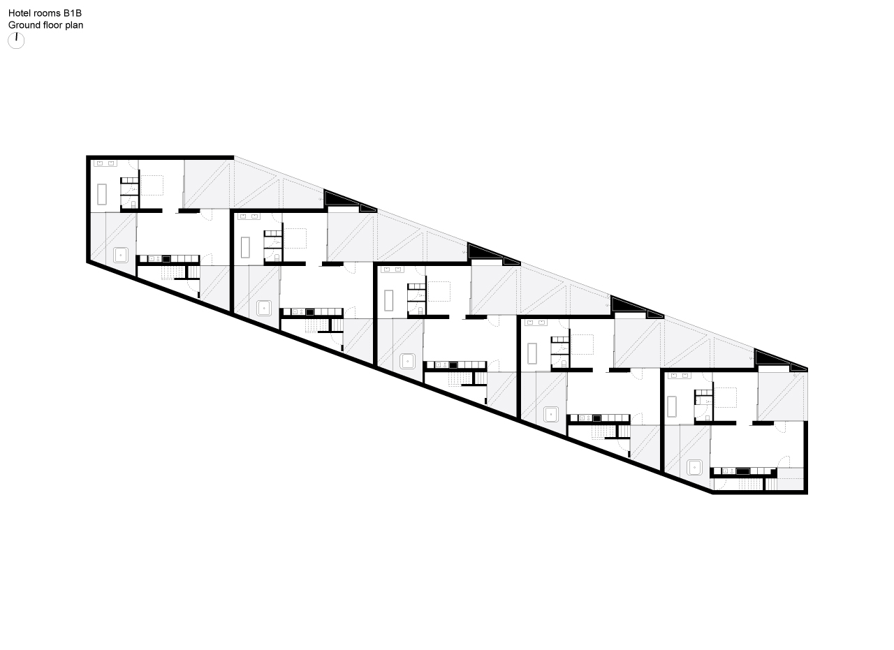 Floor plan of the hotel room building