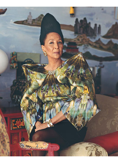 China Machado in Alexander McQueen
