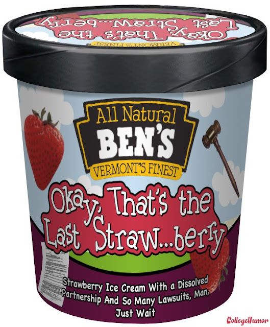 Ben & Jerry ice cream flavors, humorous