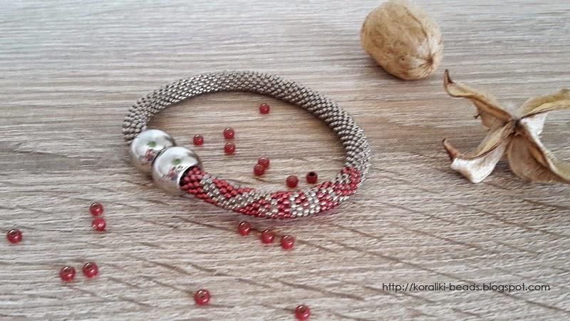 Bracelet-bead crochet rope