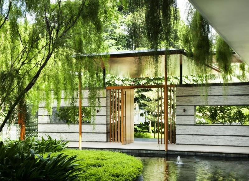 The willow house in singapore with garden roof modern for Willow house singapore