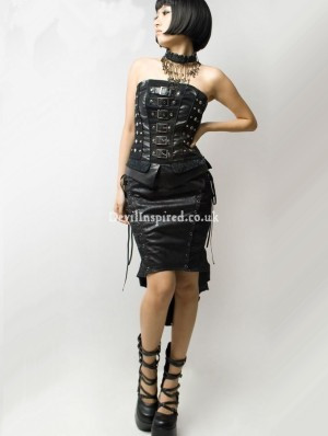 Black Gothic Cyber Punk Skirt for Women