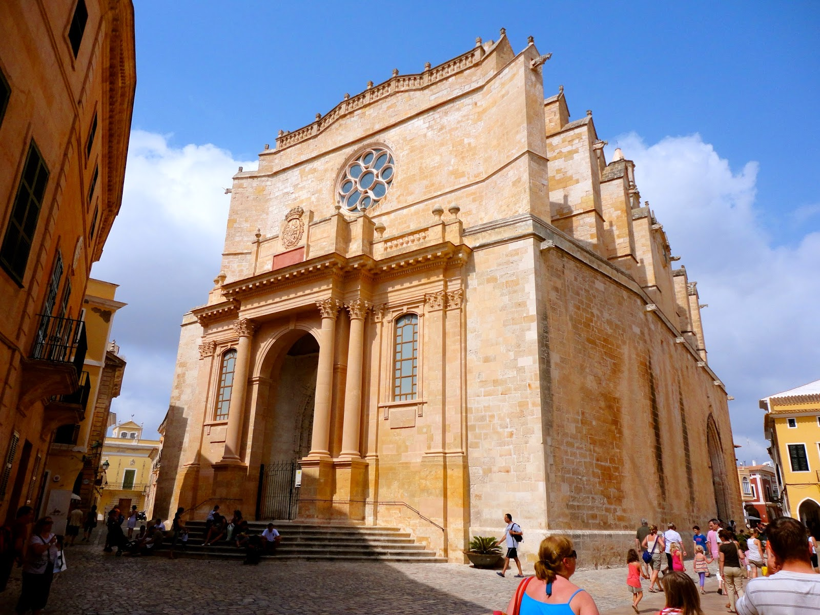 Travel Inspiration | Menorca, Spain | terracotta Spanish cathedral church building