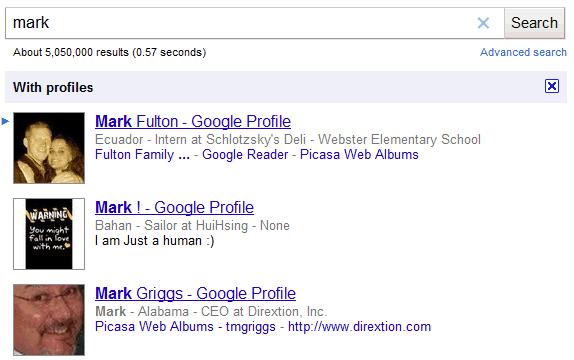 New google profile search