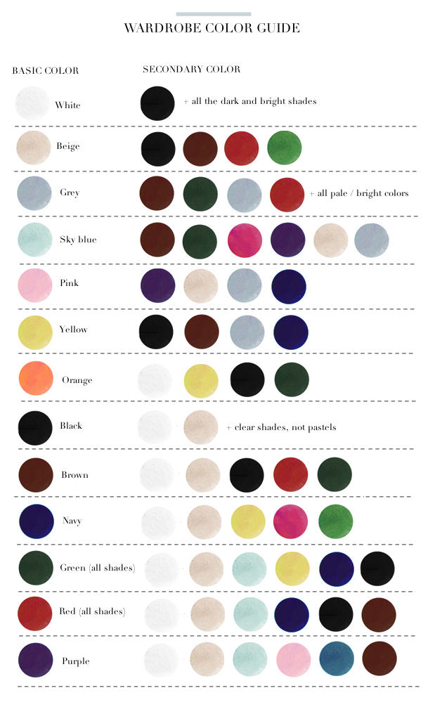 mens clothes color matching guide