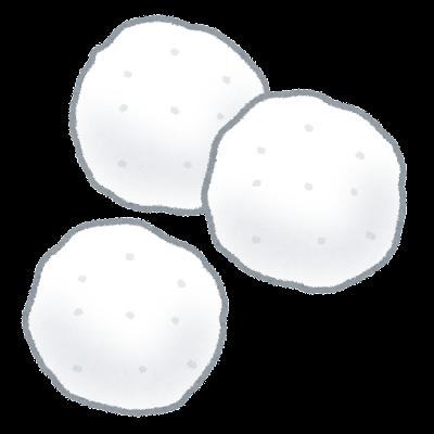 綿球のイラスト