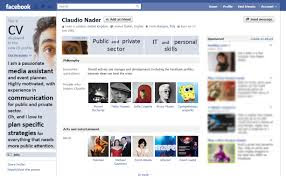 Curriculum Vitae Facebook