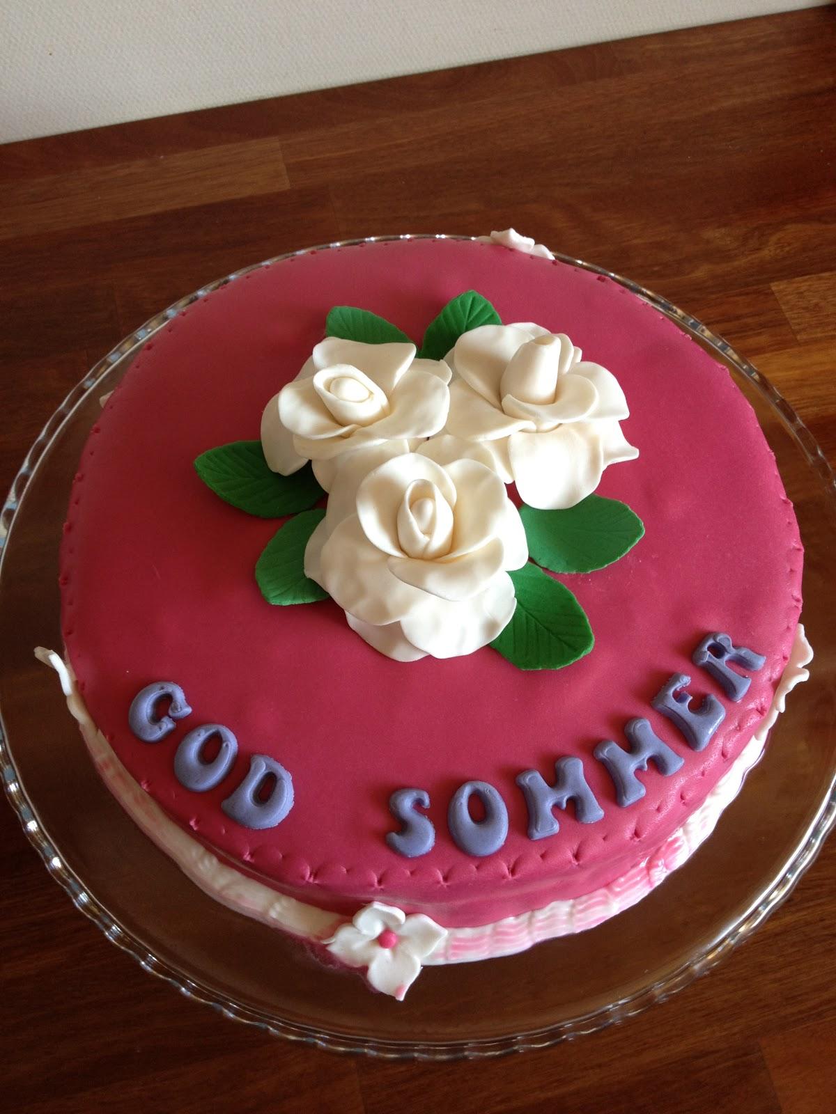 chokoladekage med chokoladeglasur og jordbær