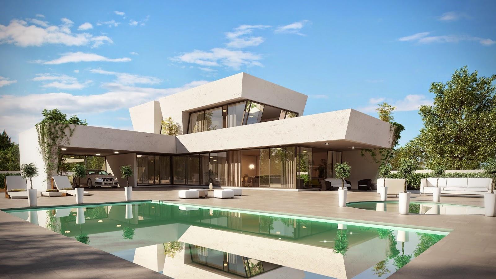 Plano de casa moderna en León. Grupo Mera.
