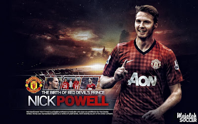 Nick Powell - Manchester United Wallpaper Sepakbola Terbaru 2012-2013 (Edisi 7 Tgl 5 Oktober 2012)
