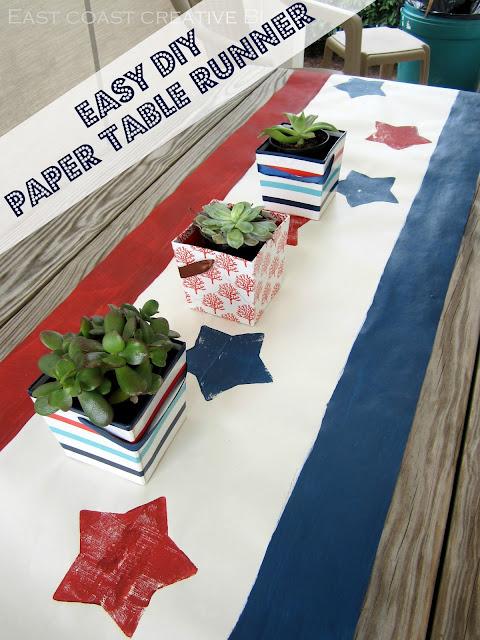 Easy diy paper table runner east coast creative for Easy diy table runner