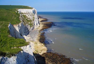 Os penhascos brancos de Dover - Inglaterra