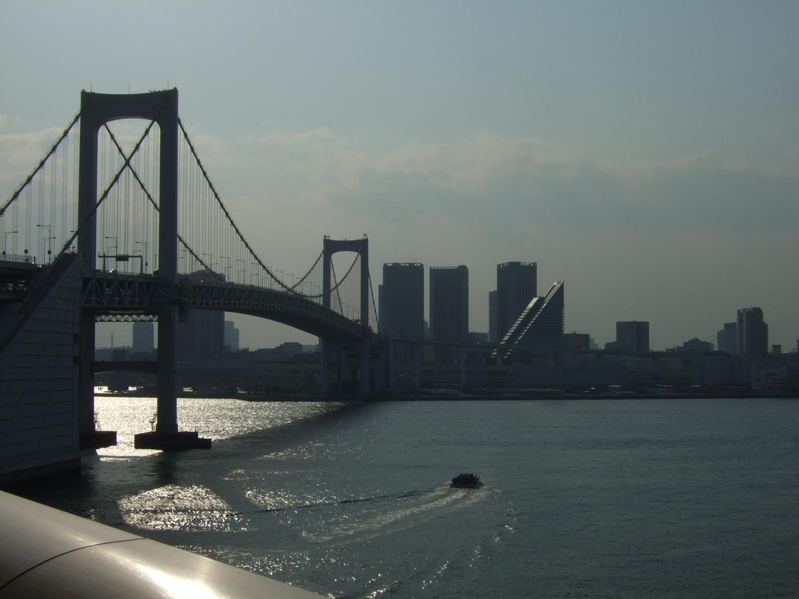 レインボーブリッジ上から,東京湾,海,船〈著作権フリー無料画像〉Free Stock Photos
