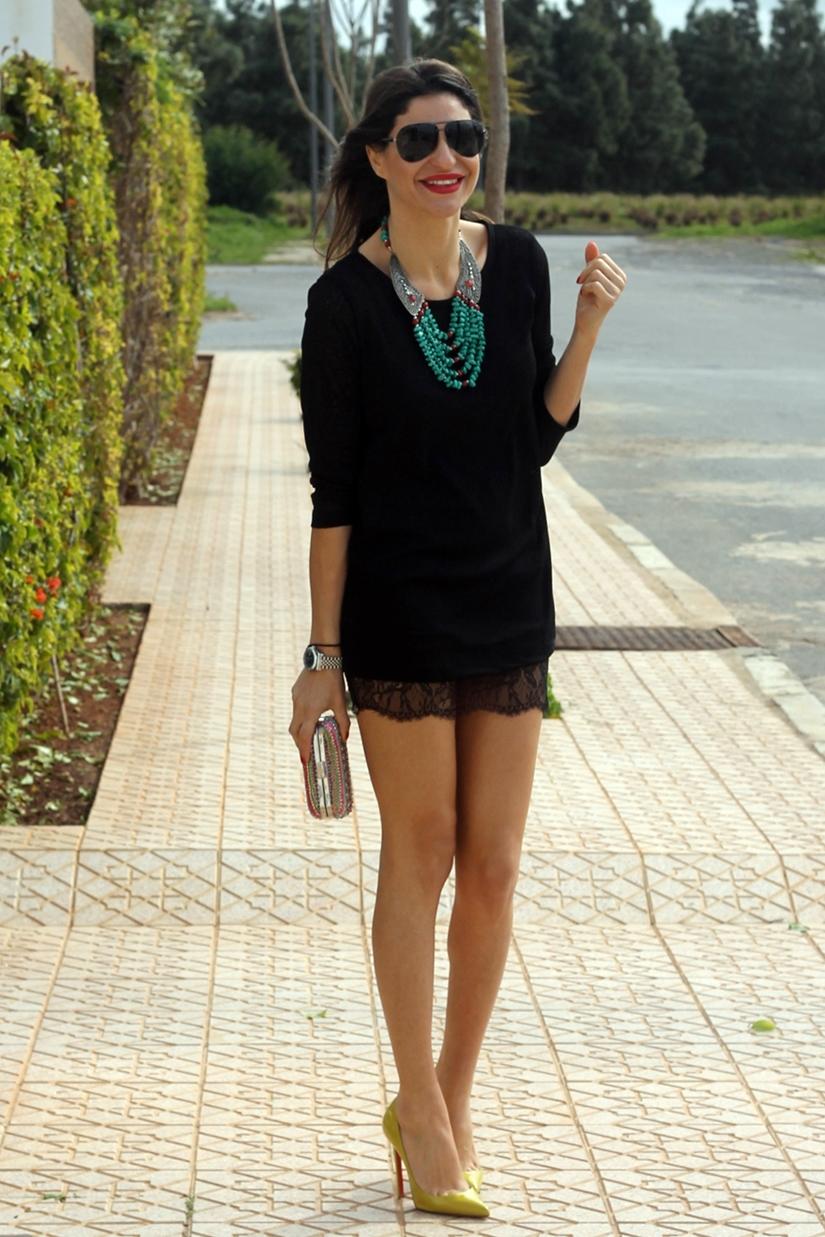 Color de uрів±as para vestido negro