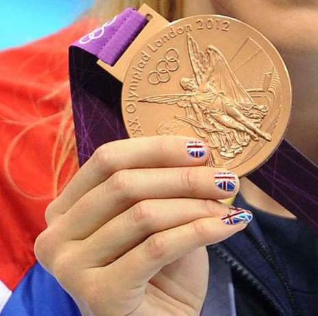 Rebecca+Adlington+Olympic+Nail+Art+GB Olympic Medal Winning Nail Art