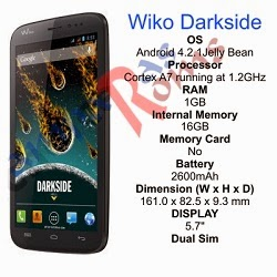 Wiko Darkside specs and stock rom download