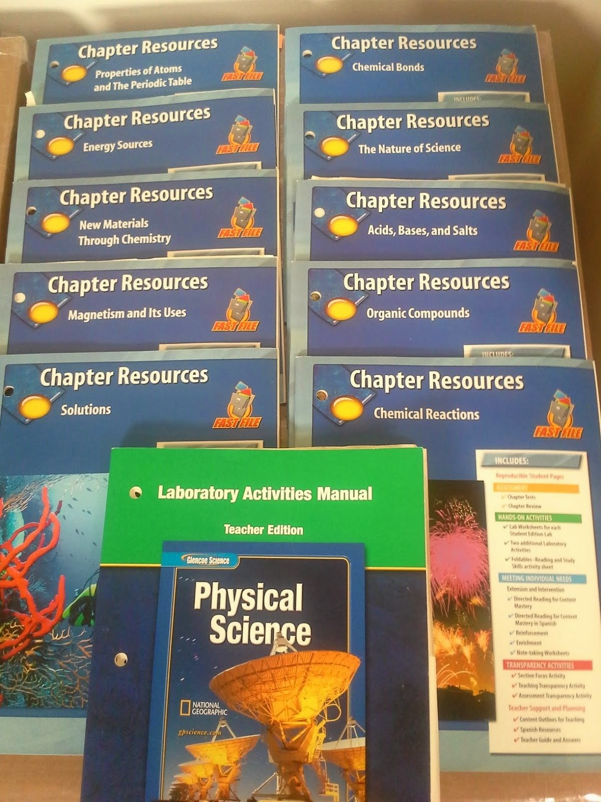 Science, Laboratory Activities Manual