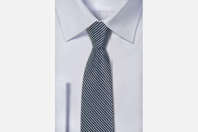 Krawat w bardzo gęste skośne paski - PewienPan