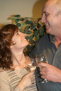 Actors Eric Hanston and Megan Kimberley