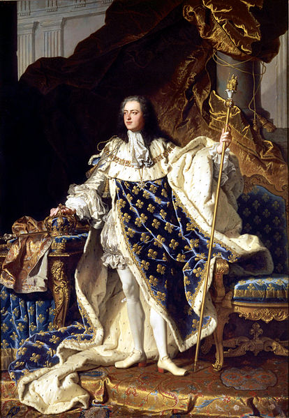 Louis XV of France by Hyacinthe Rigaud, 1730