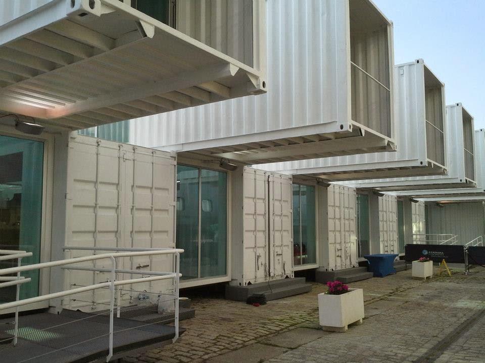Construcci n con contenedores muelle de las delicias - Casas en contenedores marinos ...