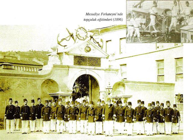 Mesudiye Firkateyni 'nde topçuluk eğitimleri (1896)