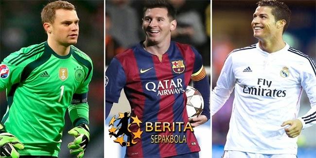 Robben Puji Ronaldo, Messi dan Neuer
