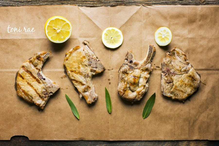 Lemon Rosemary Brined Pork Chops
