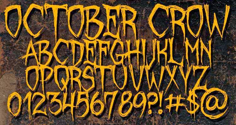 35 en güzel ücretsiz gothic korku fontları
