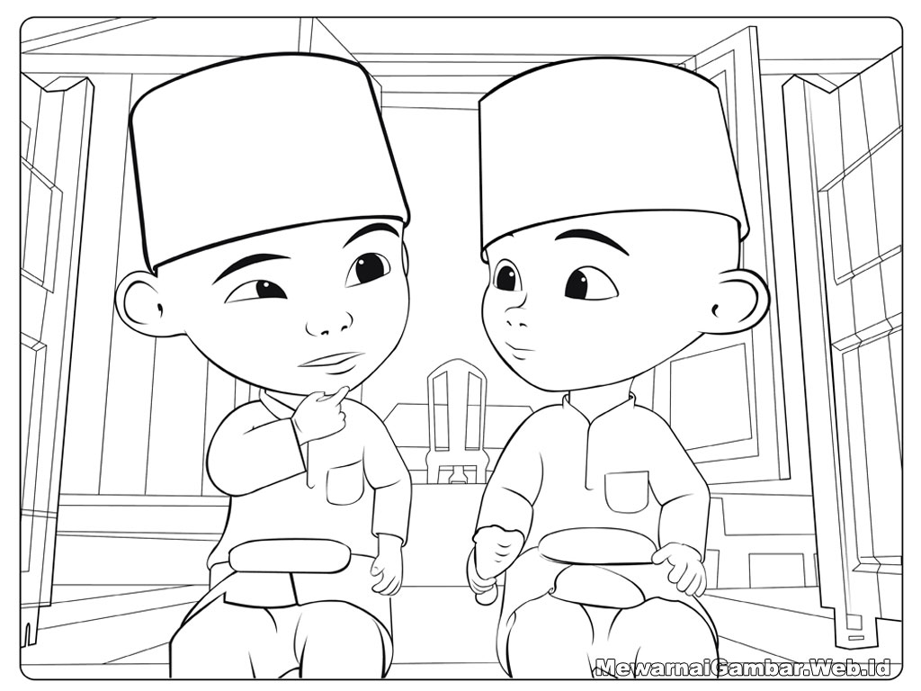 Coloring Book Upin Ipin Free Pages Of Boboi Boy