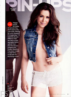 Alyssa Milano strikes a pose for Maxim magazine photoshoot