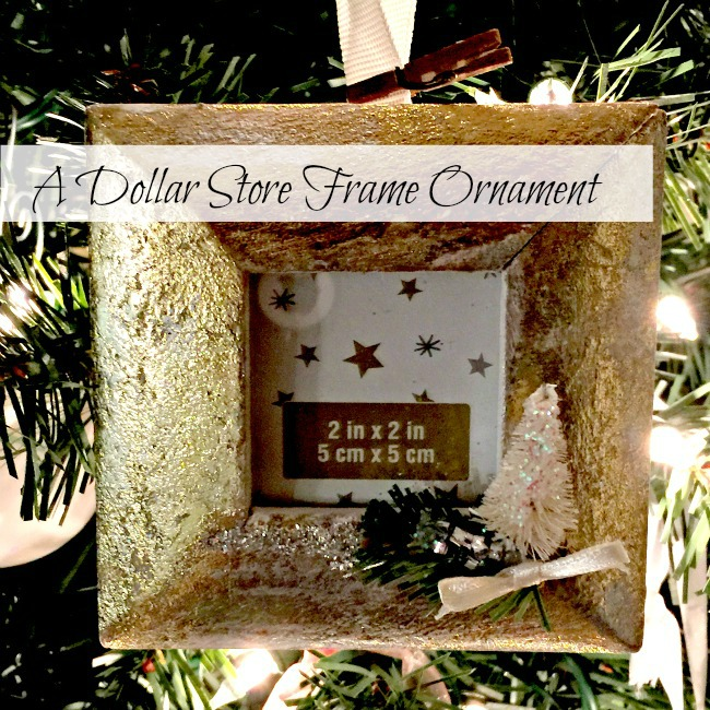 Dollar Store Gold Leaf Frame www.homeroad.net