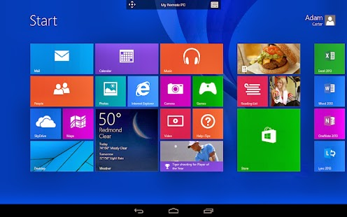 Control your PC running on Microsoft Windows  with your Android smart phone App Microsoft Remote Desktop