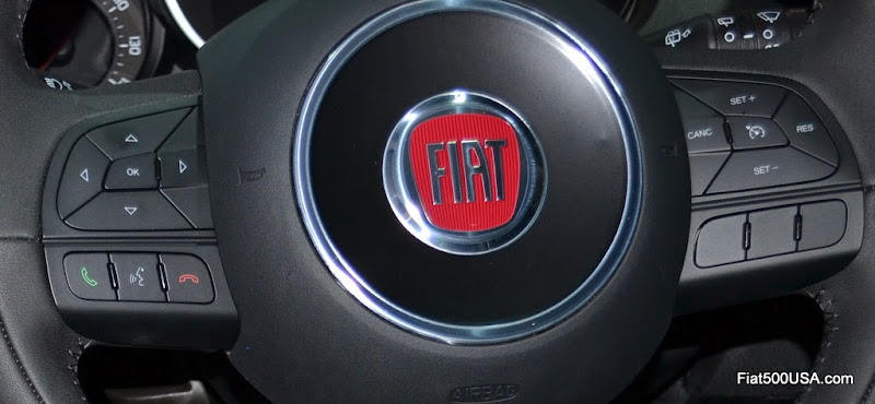 Fiat 500X Leather Steering Wheel
